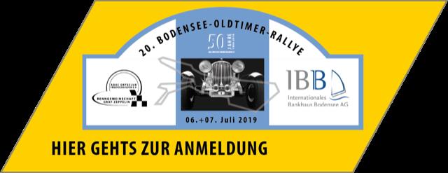 Jubiläum: 20. Bodensee Oldtimer Rallye am 6. & 7. Juli 2019 Logo