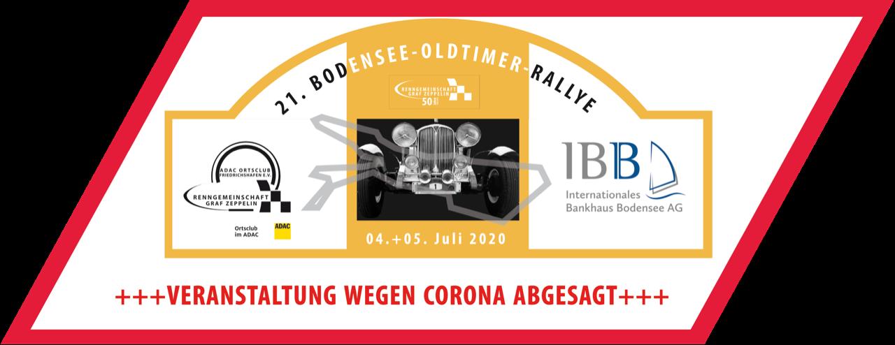 +++ ABSAGE +++ 21. Bodensee Oldtimer Rallye 2020 Logo